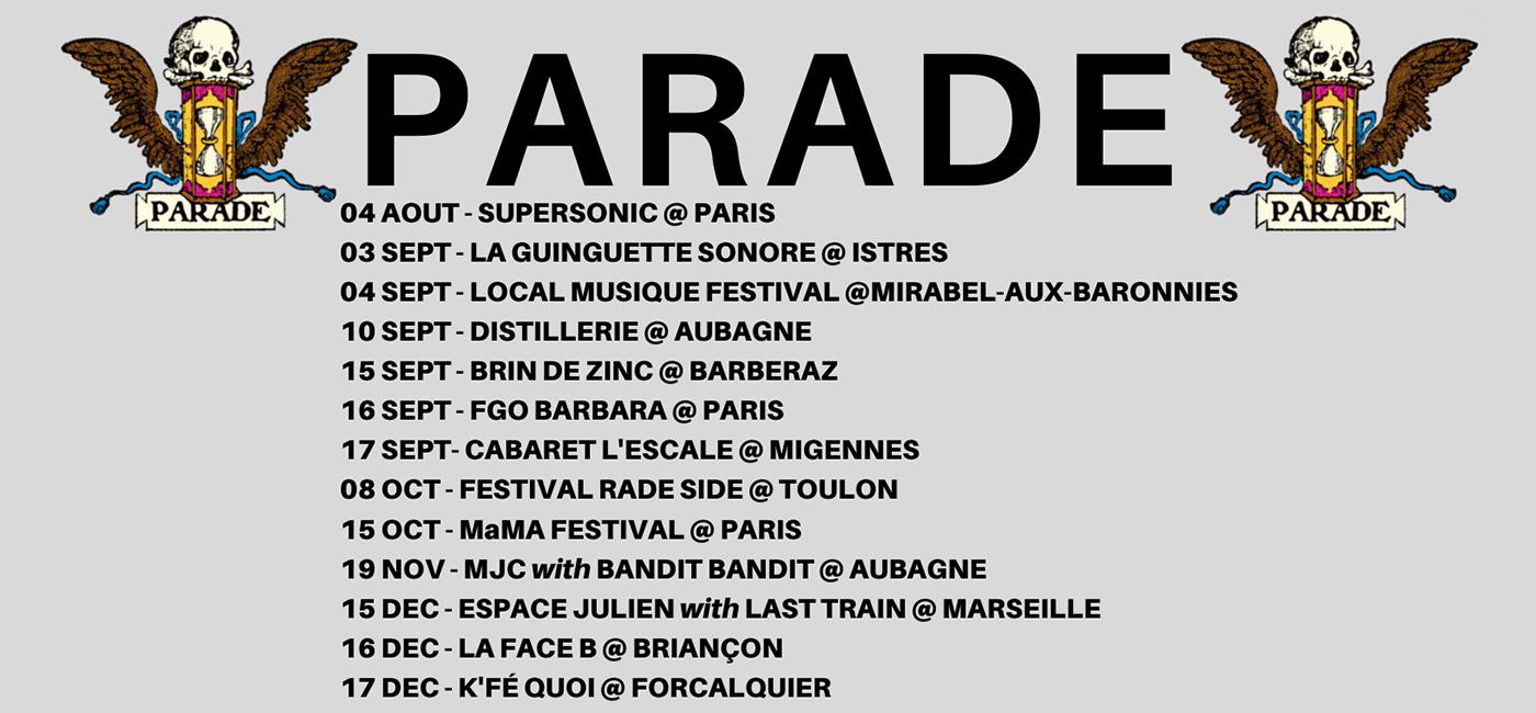 background PARADE + LAST TRAIN + JOHNNIE CARWASH / ESPACE JULIEN - MARSEILLE