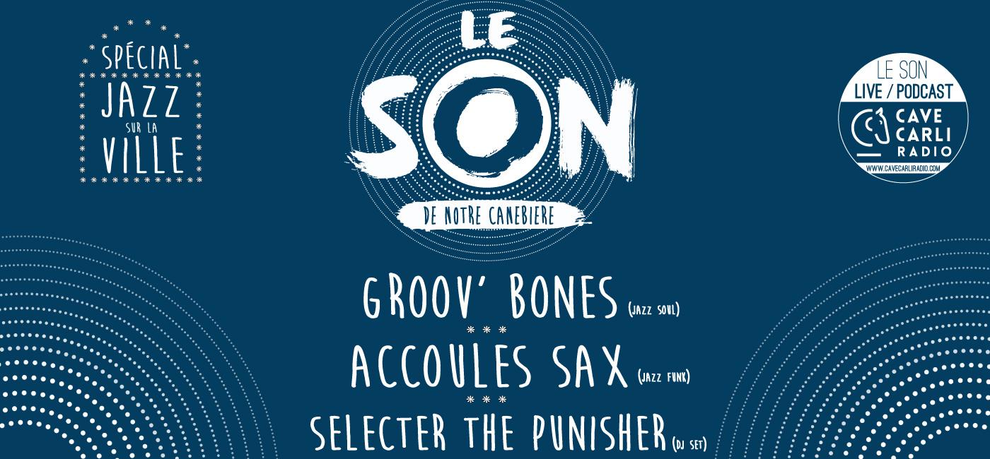 background BEFORE JAZZ SUR LA VILLE : GROOV' BONES - ACCOULES SAX - SELECTER THE PUNISHER